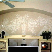 Denise Laiso Plaster Palm Trees Small