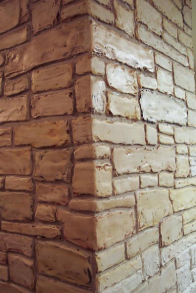 Marble Wall Plastering : Plaster stencil stacked stone walls stencils