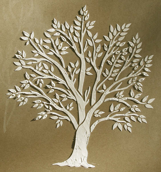 Plaster stencil miniature tree walls stencils plaster for Printable stencils for canvas painting