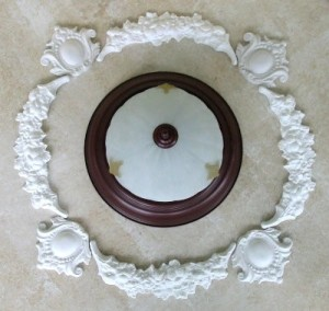 Floral Arch and small cartouche around fixture SMALL