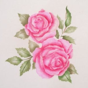 Add beautiful roses to your walls, fabric and floors with this easy stencil
