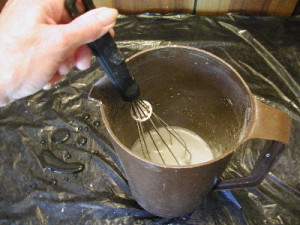 How to cast plaster