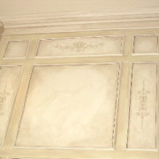 plaster stencil oxford panel wall