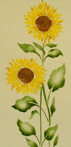 painting_sunflower_garden_stencil_525