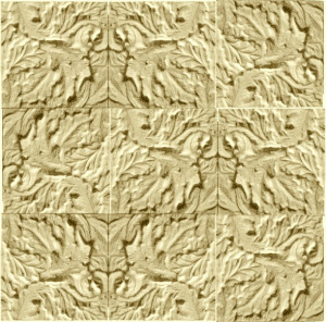 plaster-mold-acanthus-tile-repeated