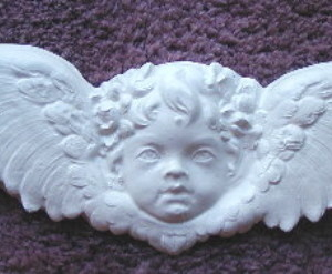 plaster mold cherub head