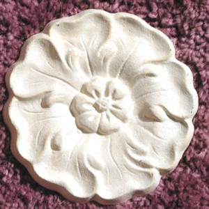 Plaster mold romantic round