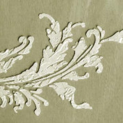 plaster stencil frilly acanthus
