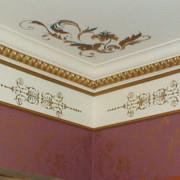 Plaster stencil oxford panel