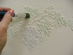 How to stencil with plaster