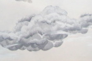 Easy ceiling clouds with this stencil set
