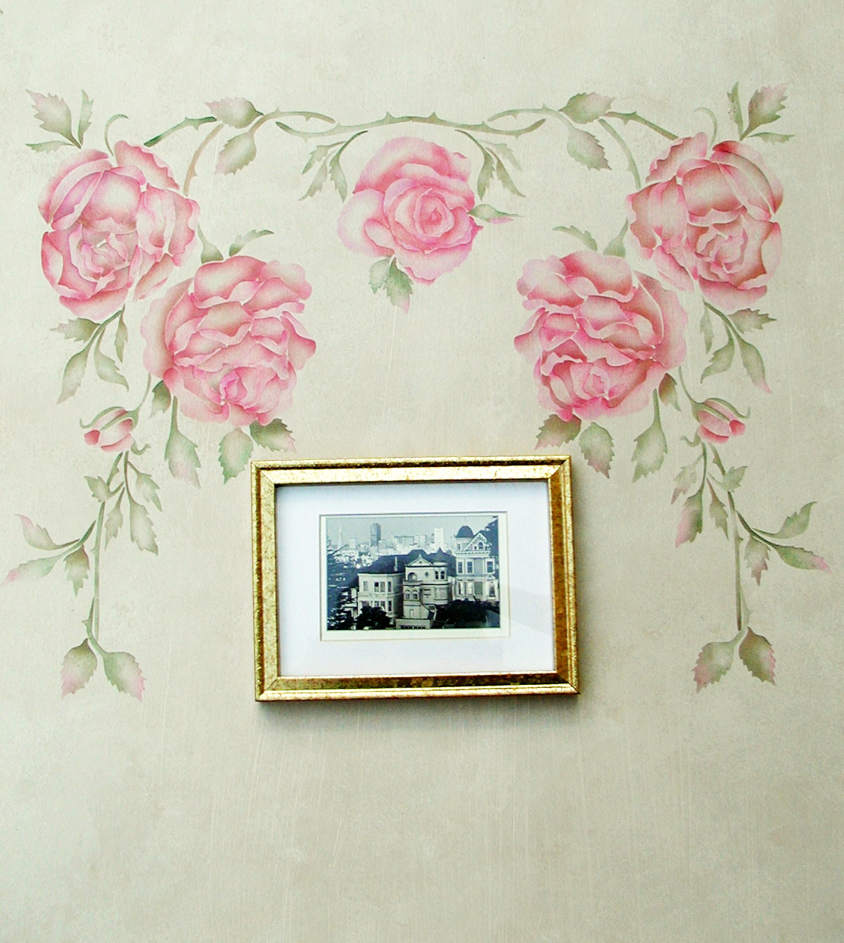Rose wall stencil image collections home wall decoration ideas rose wall stencil amipublicfo Image collections