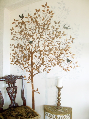Wall stencil large tree walls stencils plaster stencils for Large tree template for wall