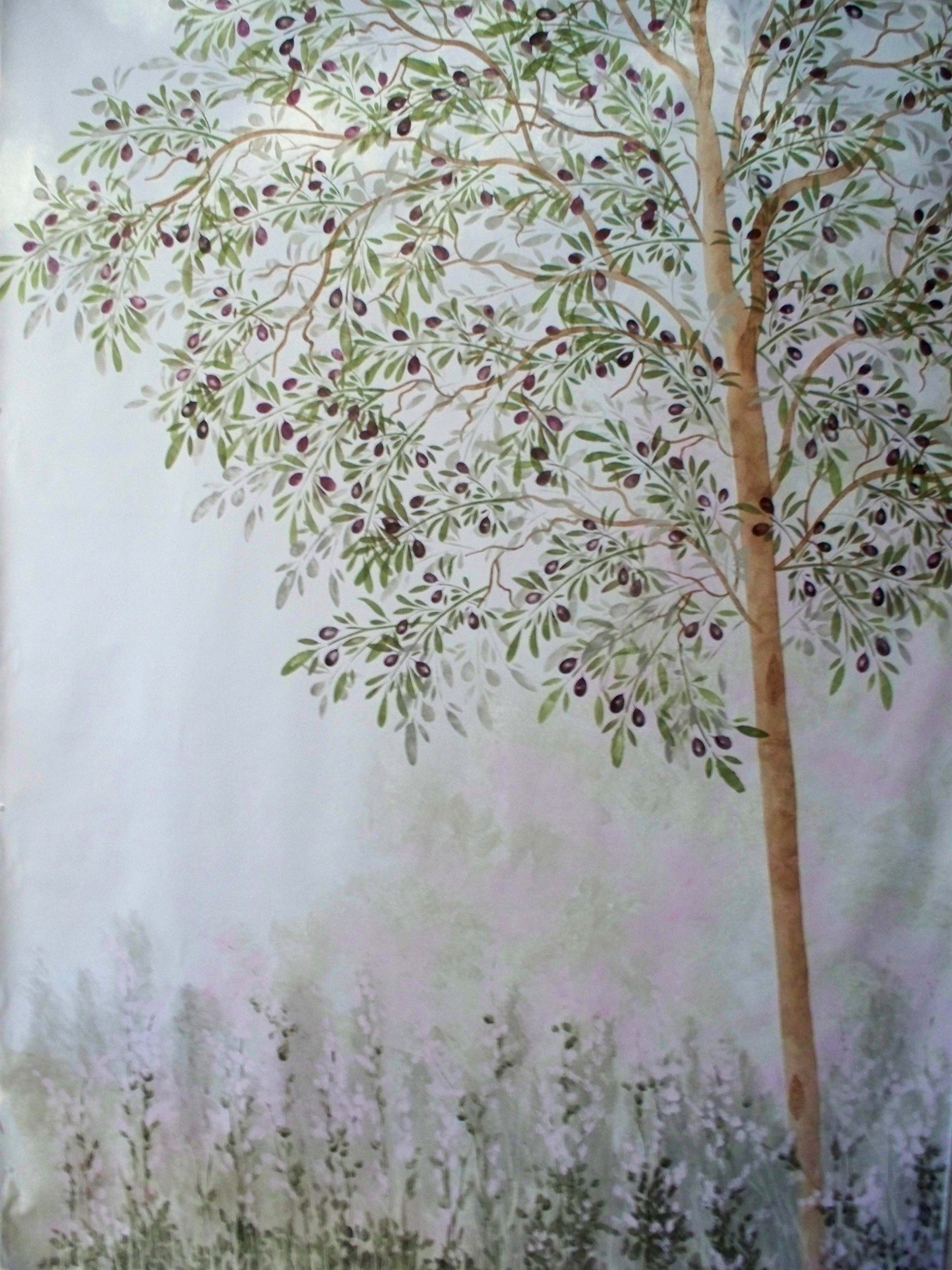 Tree stencils product categories walls stencils plaster wall stencil olive tree amipublicfo Gallery
