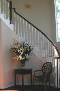Cathy Higgens Molded stairs before