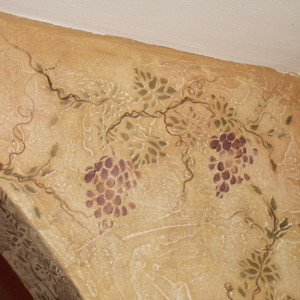 Plaster Stencil Grapes