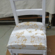 stenciled chair
