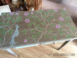 HALL TABLE - Chinese Rose 1-2 logo sm