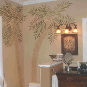 Bathroom Palm TreesSmall