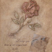 Michelle Garcia Plaster Single Rose and Husbands Poem