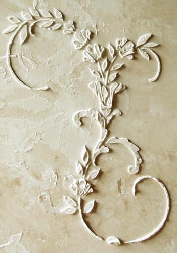 plaster stencil dresden relief