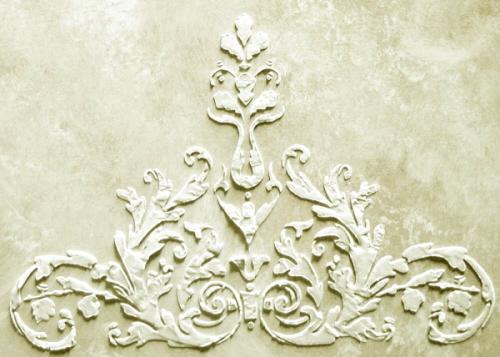 plaster stencil laureli