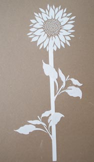 Plaster Stencil Freestyle Sunflower Walls Stencils