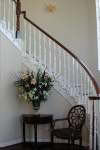 Cathy Higgens molded stairs after