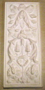 Plaster Mold Italian Panel un-painted