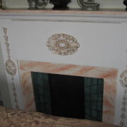 Pauline Burgess Plaster mold on fireplace