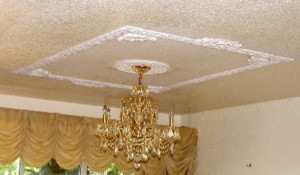 Plaster ceiling design using plaster molds