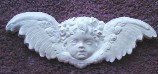 plaster mold cherub head