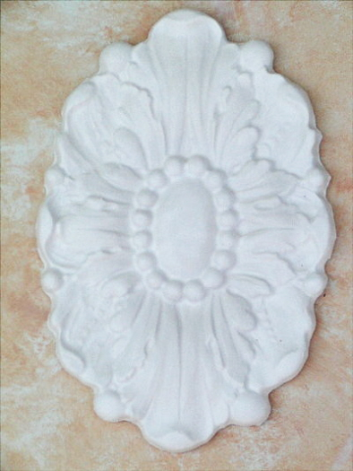 Plaster Mold Large Floral Medallion