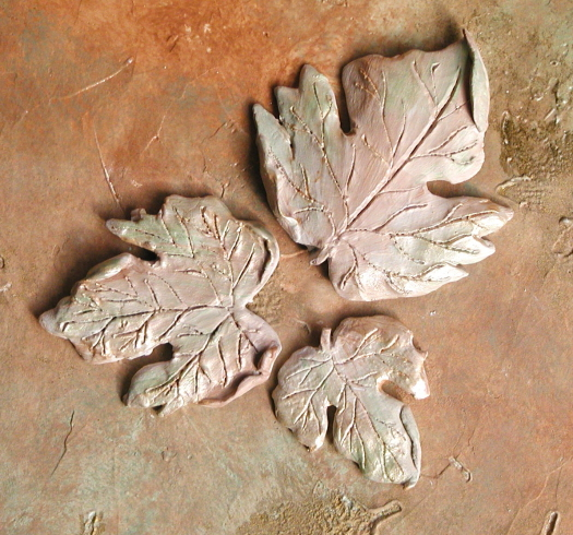 Plaster Mold Spring Leaves