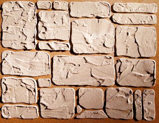 Plaster Stencil Cottage Stone