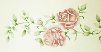 Stencil Ceiling Rose