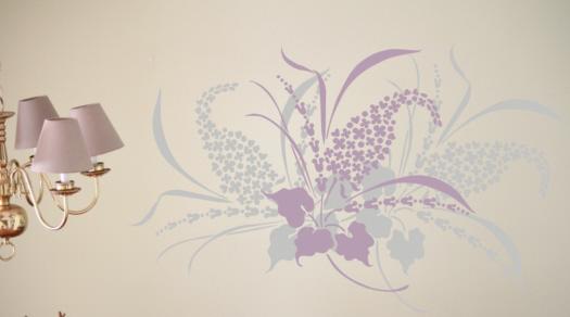 Wall Stencil Lilac Love