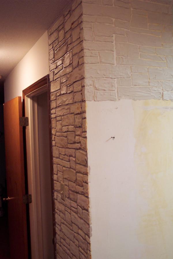 Plaster Stencil A Realistic Stone Wall Walls Stencils