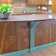 Plaster stencil Aspen Tree in Copper finish
