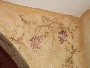Plaster Stencil Grapes