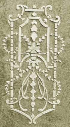 Plaster stencil french panel