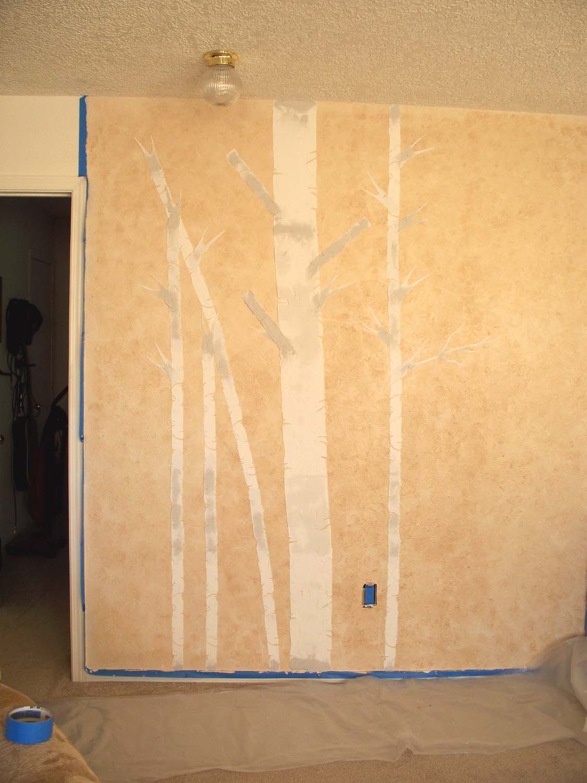 aspen tree stencil – Walls Stencils, Plaster Stencils, Painting ...