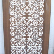 plaster stenciled cupboard door
