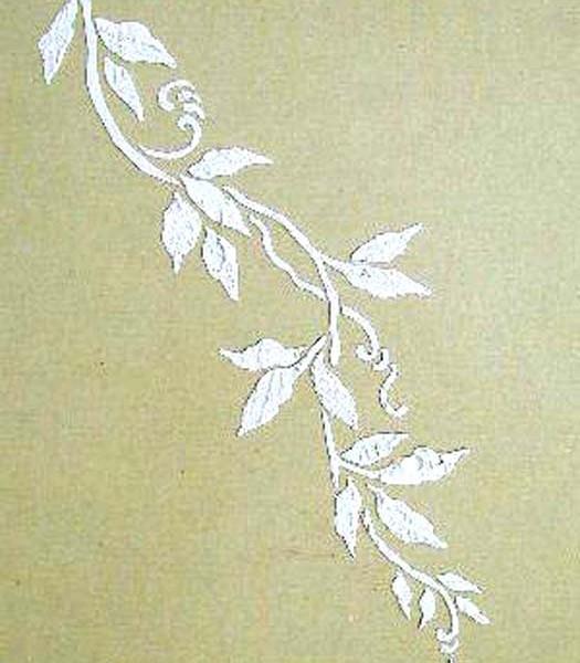 Plaster Stencil Vine