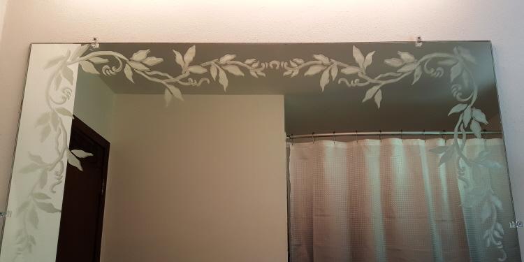 Plaster Stencil Vine Kitchen Wall Gl Etched Mirror Fun Bathroom Mirrors