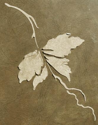 Plaster Stencil Twig