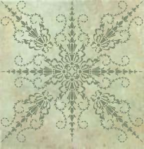 plaster stencil paladia frieze