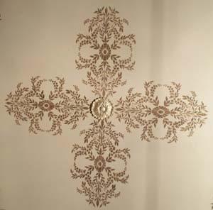 plaster-stencil-medallion
