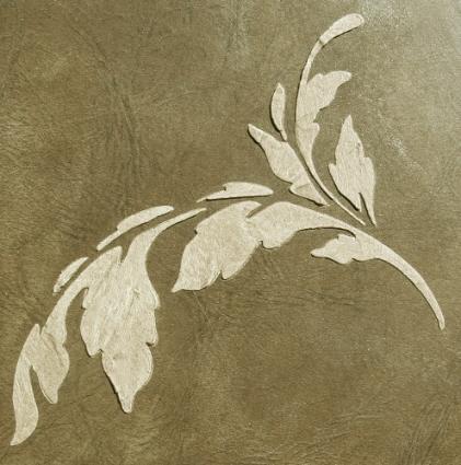 plaster stencil acanthus sprig