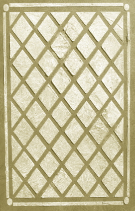 plaster stencil diamond panel